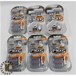 BAG OF BIC FLEX 5 HYBRID DISPOSABLE RAZORS