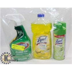 BAG OF ASSORTED CLEANING SUPPLIES