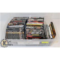 LOT OF ASSORTED DVDS INCL BOND & BOURNE, ACTION
