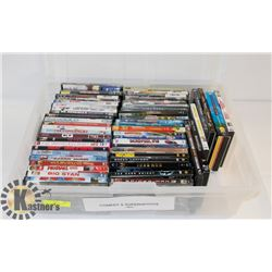 LOT OF ASSORTED DVDS INCL COMEDY, SUPERHEROES,