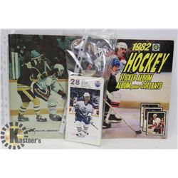OILERS 1982 OPC COMPLETED STICKER BOOK, 1979 OILER