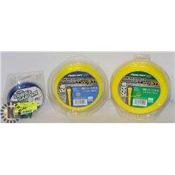 THREE PACKS OF HEAVY DUTY TRIMMER LINE