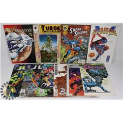 FLAT OF 10 ASSORTED COMICS INCLUDING FOUR #1 ISSUE