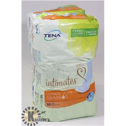 TWO PACKS OF TENA INTIMATE PADS