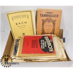 FLAT OF ANTIQUE- VINTAGE  MUSIC BOOKS