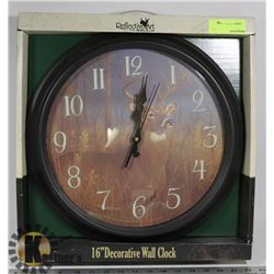 "16"" DECORATIVE WALL CLOCK"