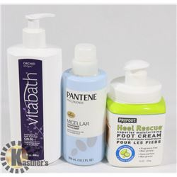 BAG WITH VITABATH SHOWER GEL, PROFOOT HEEL RESCUE,