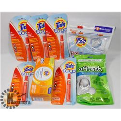 BAG OF ASSORTED LAUNDRY SUPPLIES