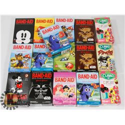 BAG OF ASSORTED BAND AIDS