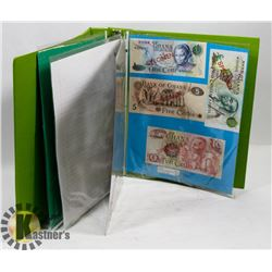 BINDER OF ASSORTED WORLD CURRENCY