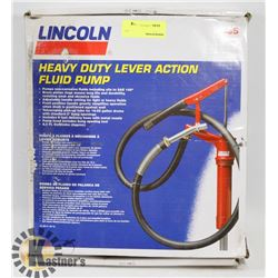 LINCOLN HEAVY DUTY LEAVER ACTION FLUID PUMP