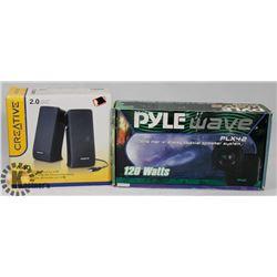 "NEW SETS PYLE WAVE 1 PAIR 4"""
