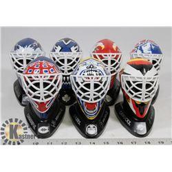 FLAT OF NHL GOALIE MASK DISPLAYS