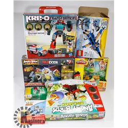 BOX OF LEGO,ANGRY BIRDS,DISNEY TOYS AND MORE