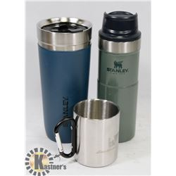 LOT OF 2 NEW STANLEY THERMOS AND STEEL CAMPING