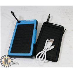 LOT OF 2 EDDIE BAUER SOLAR POWER BATTERY CHARGERS