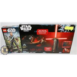 UNOPENED STAR WARS REY LEGO FIGURE AND NEW