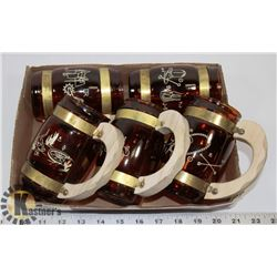SET OF 5 RODEO STEINS