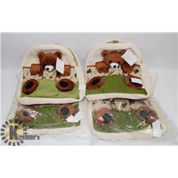 BOX OF 4 TODDLER BEAR BACKPACKS