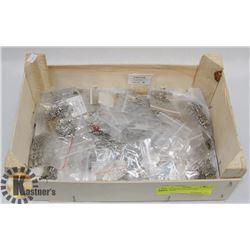 BOX OF METAL BEADS AND PENDANTS
