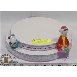 HALLMARK MAXINE CERAMIC CAKE DISPLAY STAND PLATE