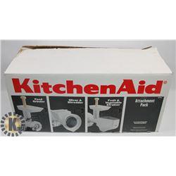 KITCHEN ATTACHMENT SET INCL FOOD GRINDER, SLICER