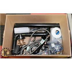 BOX OF ASSORTED PLUMBING ITEMS
