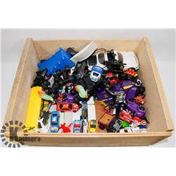 BOX OF ASSORTED HOTWHEELS AND BATMAN CARS