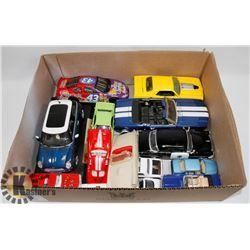 BOX OF DIECAST CARS