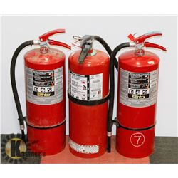 LOT OF 3-20LBS FIRE EXTINGUISHERS