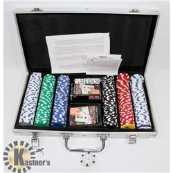 NEW POKER SET IN METAL CARRY CASE. GENERAL.