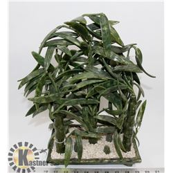 VINTAGE GREEN BAMBOO SCULPTURE