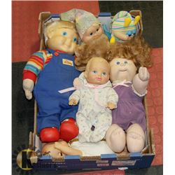 BOX OF COLLECTIBLE DOLLS.