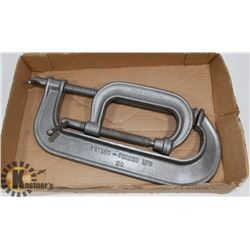LOT OF 2 LARGE CLAMPS.
