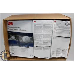 CASE OF 30- 3M N95 RESPIRATORS.