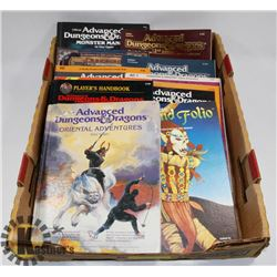 LOT OF 11 VINTAGE DUNGEONS AND DRAGONS BOOKS