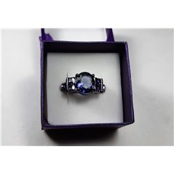11)  BLACK RHODIUM PLATED SETTING WITH