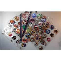 21)  LOT OF 100 POGS IN SLEEVES