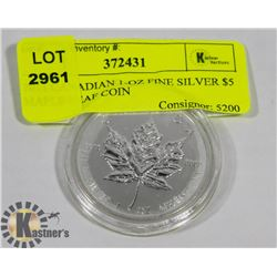 2011 CANADIAN 1-OZ FINE SILVER $5 MAPLE LEAF COIN