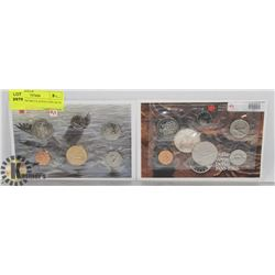 LOT OF 2 UNCIRCULATED COIN SETS , 1996, 1985