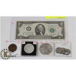 LOT OF ASSORTED USA CURRENCY