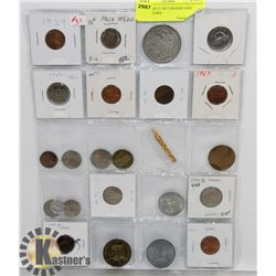 STOCK SHEET OF CANADA AND WORLD COINS