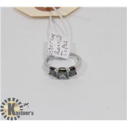 STERLING SILVER RAINBOW TOPAZ RING SIZE 4.