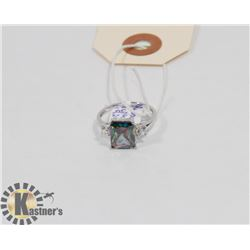 STERLING SILVER RAINBOW TOPAZ RING SIZE 7.