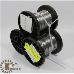 3 SPOOLS OF STAINLESS STEEL TIE WIRE.
