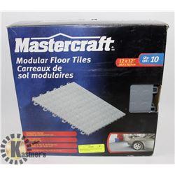 MASTERCRAFT MODULAR FLOOR TILES 10 IN BOX