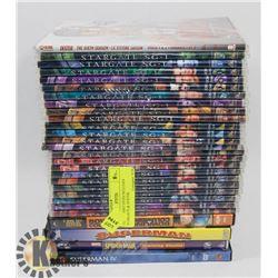 LOT OF ASST DVD'S INCLUDES STARGATE & DEXTER