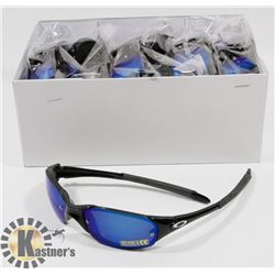 CASE OF BLACK OAKLEY STYLE SUNGLASSES