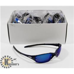 CASE OF BLUE OAKLEY STYLE SUNGLASSES