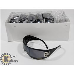 CASE OF BLACK CHANEL STYLE SUNGLASSES